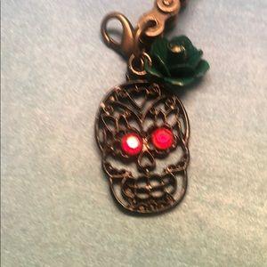 Black Skull Bike Chain Gothic Bracelet